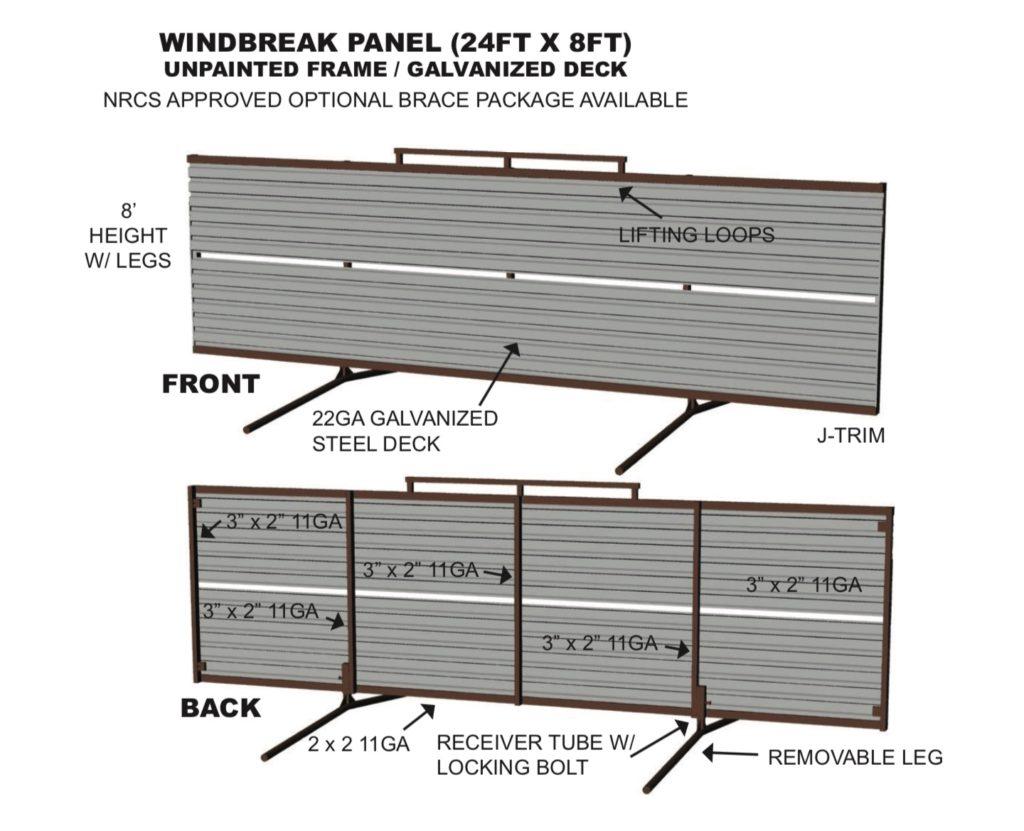 portable windbreak