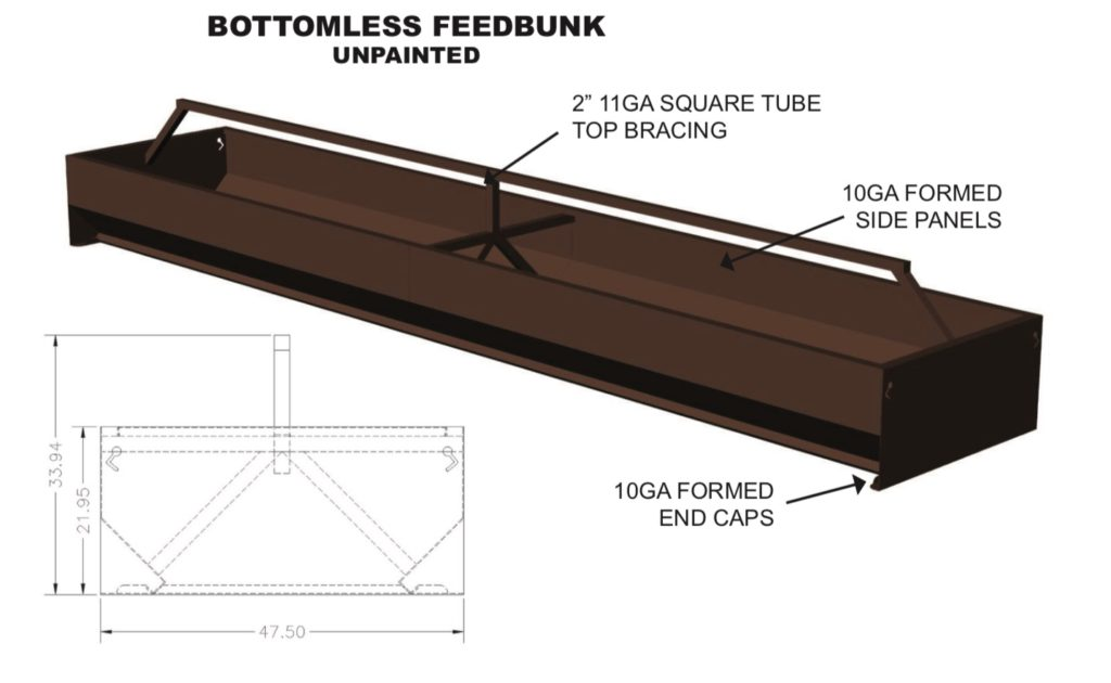 bottomless feed bunks