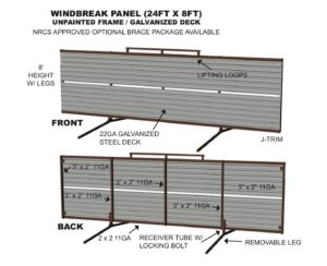 portable windbreak